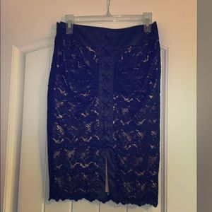 BEBE lace sexy pencil skirt